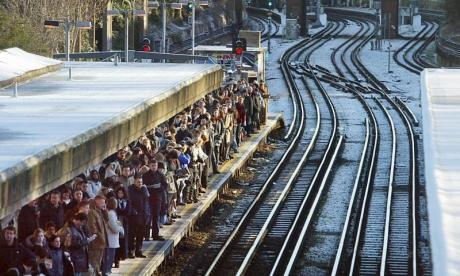 Rail punctuality hits 13-year-low amid bad weather and strikes