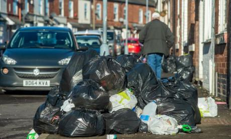 Rubbish piles up in streets of Birmingham has binmen take industrial action