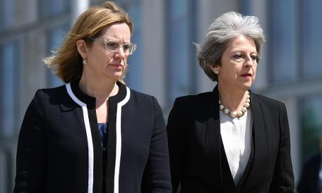 Amber Rudd and Theresa May