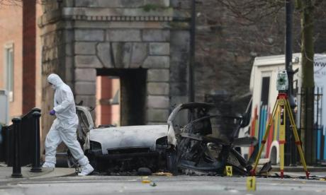 Two arrested over Londonderry car bomb attack