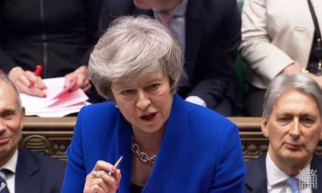 Theresa May rules out revoking Article 50 in PMQs as she and Jeremy Corbyn trade insults