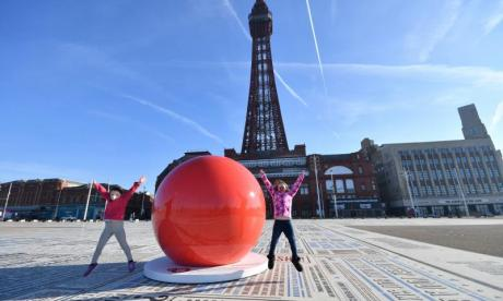 Giant red noses pop up around the UK to celebrate Comic Relief's Red Nose Day