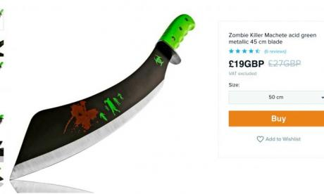 Online marketplace faces backlash over offering young customers zombie knives