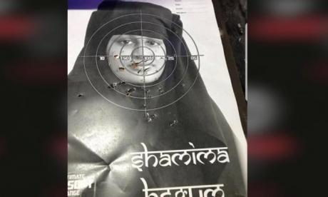 Face of Shamima Begum used for target practice at Wirral shooting range