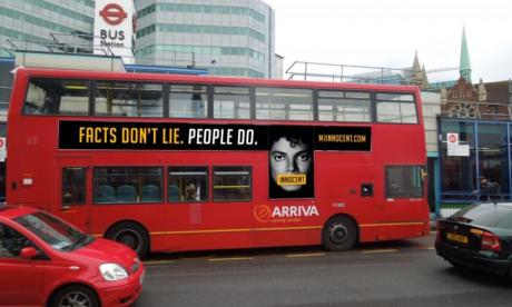 MJ Innocent London bus advert