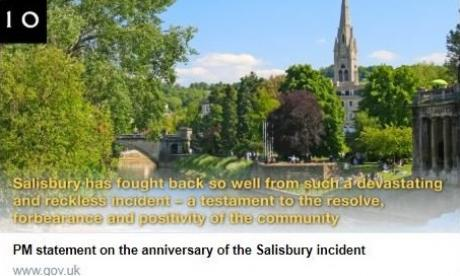 Downing Street's Salisbury tribute uses photo of Bath