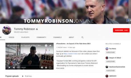 Tom Watson demands YouTube ban Tommy Robinson