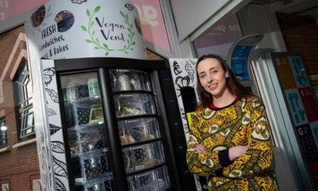 Primary school teacher creates Britain's first vegan vending machine