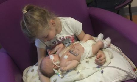 Six-year-old girl donates bone marrow to save baby brother