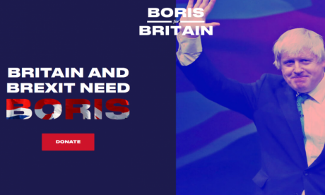 Anti-Brexit campaigners target Boris Johnson with fake leadership website