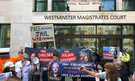 Julian Assange moved to prison medical ward