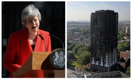 Theresa May branded 'disgraceful' by firefighters' union