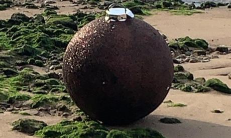 Suspected unexploded device revealed to be giant bauble