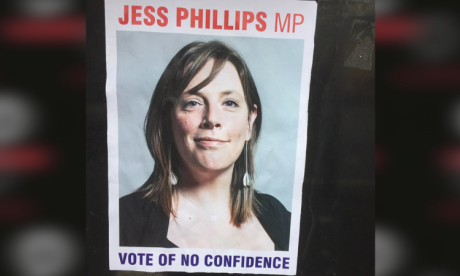 Jess Phillips targeted by posters put up in 'wrong' constituency